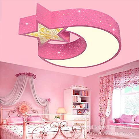 Lilamins Led Ceiling Light-Room Light Star Moon Child Iron Lamps ...