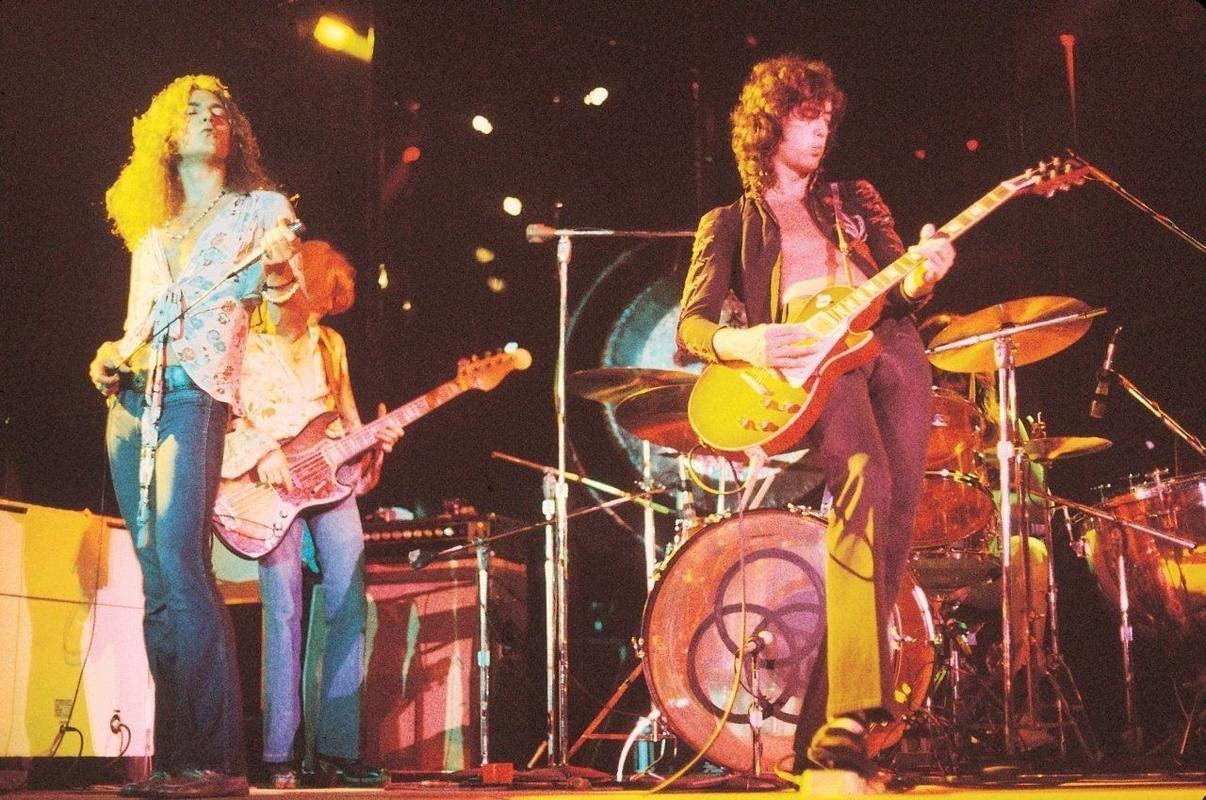 Get Motivation Led Zeppelin Jimmy Rock Music Band Jimmy Page Robert Plant John Paul Jones John Bonham 12 x 18 inch Poster