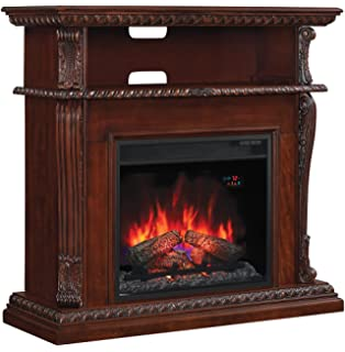 Amazon.com: Corinth Oak Infrared Electric Fireplace TV Stand ...