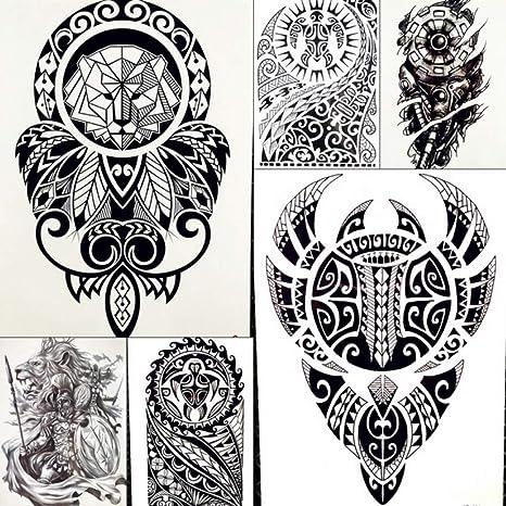MRKAL Lion King Warrior Pegatinas De Tatuaje Temporal Hombres ...
