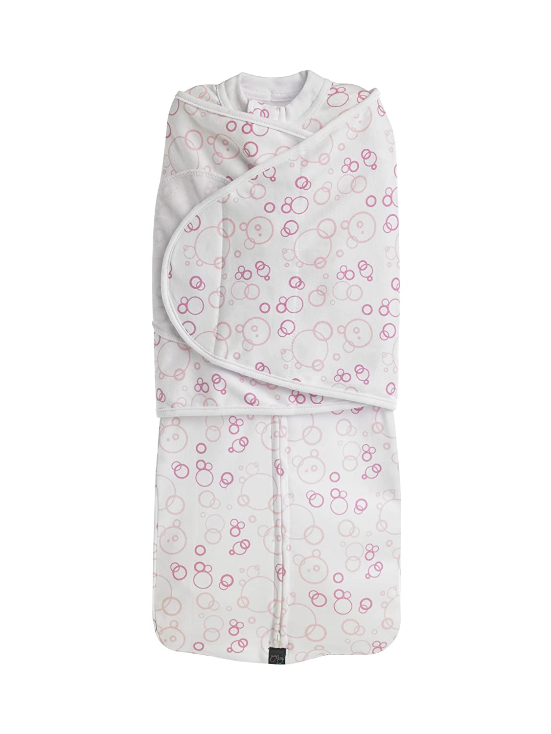 Mum2Mum Dream Swaddle Wrap SMALL- 100% Cotton - 7 - 14lbs (3.17– 6.35kg) - Pink Bubbles Baby Best Buys 16132