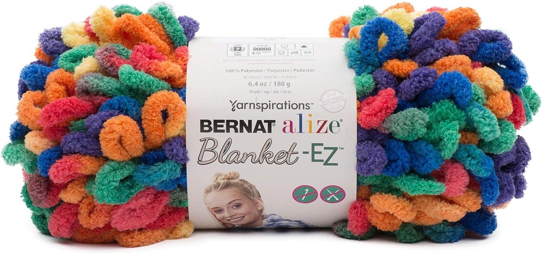 Bernat 16103737009 Alize Blanket-EZ Yarn Bright Red