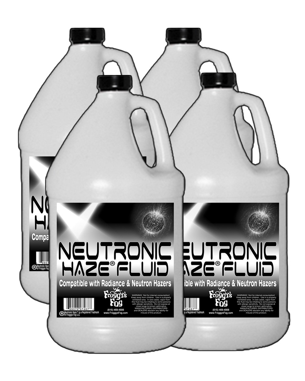 Froggys Neutronic Haze Fluid - Specially Formulated Haze Liquid - 4 Gallon Case / 15.14 Liters