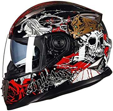Casque moto tête de mort 11