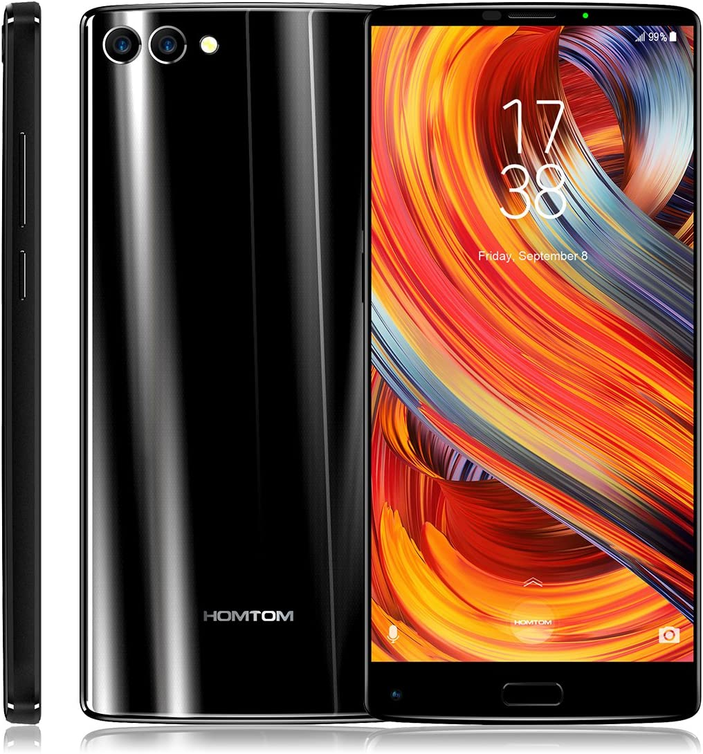 HOMTOM S9 Plus 4G Smartphone 5.99 Pulgadas Android 7.0 MTK6750T Octa Core 1.5GHz 4GB RAM 64GB ROM Cámaras Traseras Duales de 16,0MP + 5,0MP OTG Function Fingerprint Scanner-Negro: Amazon.es: Electrónica