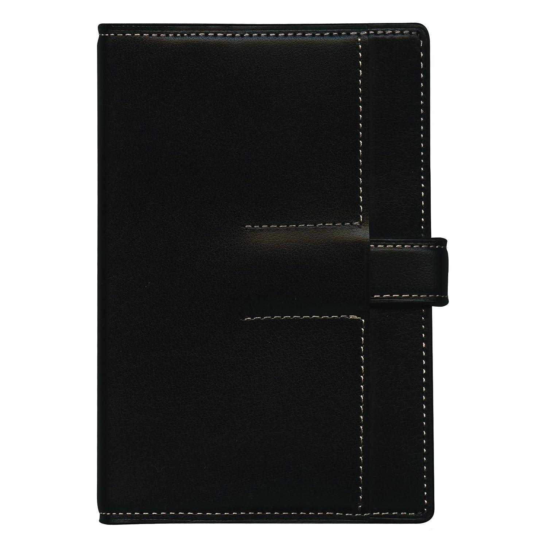 ミニ6穴サイズ システム手帳 ユナイト(リング径11mm)【ブラック×キャメル】 125-500-3   B00JUQHZ8A