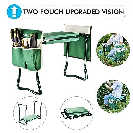 Amazon.com: Rodillera y asiento de jardín con 2 bolsas de ...