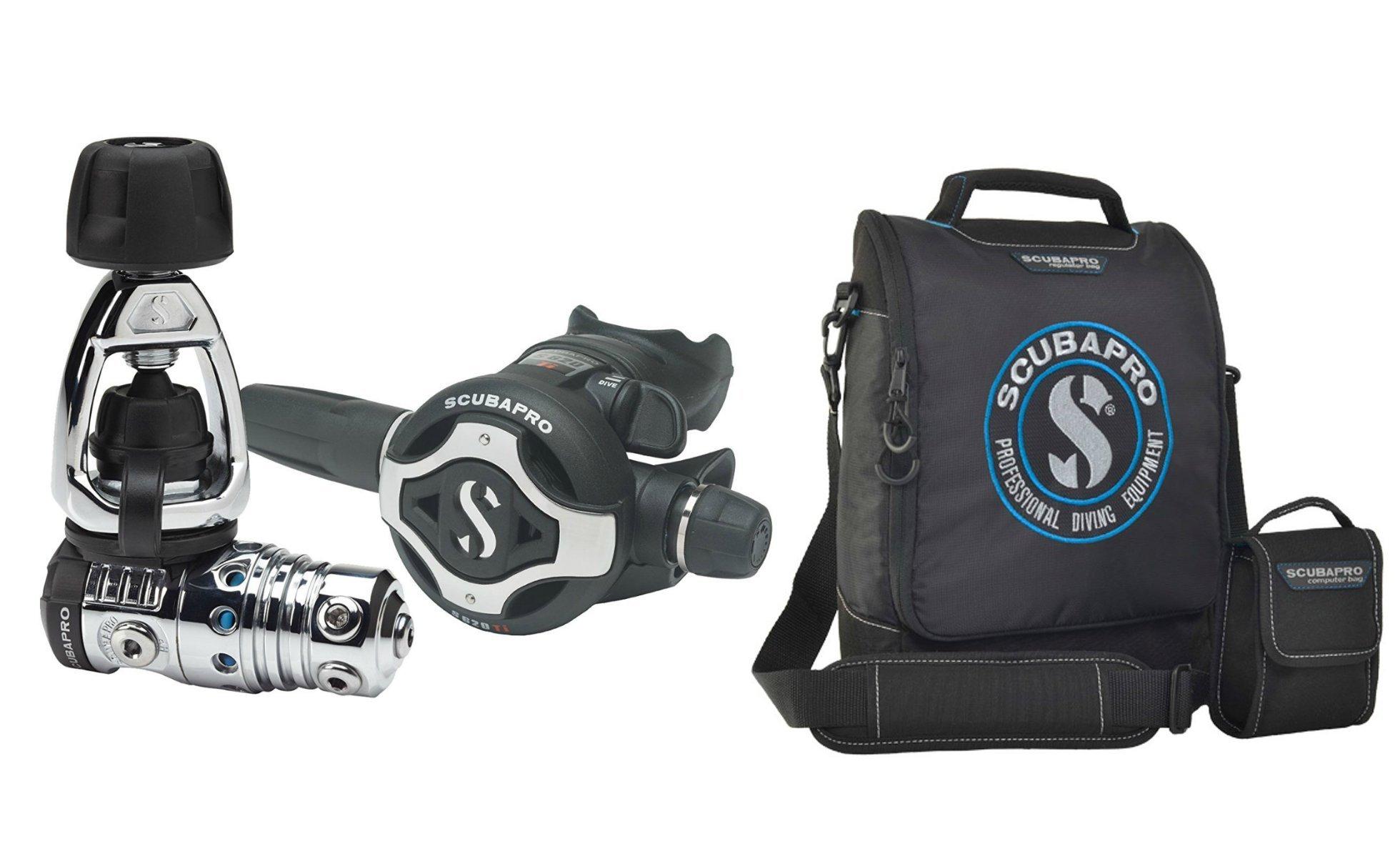 Scubapro MK25 EVO S620Ti Scuba Diving Regulator, Black W/Travel Regulator Bag