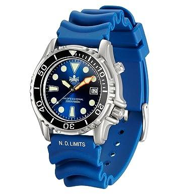 Phoibos hombre px005b 1000 M Buceo reloj Swiss Quartz Blue Reloj Deportivo: Amazon.es: Relojes