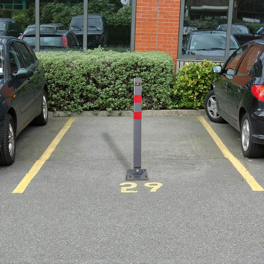3 St/ück UISEBRT 3x Parkplatzsperre Parkpfosten Klappbar mit 3 Schl/üssel Robust und Stabil Absperrpfosten Sperrpfosten