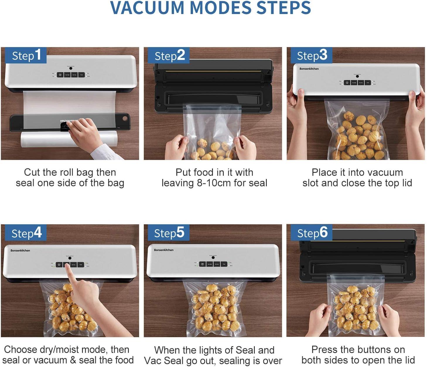 Pasos para realizar el envasado al vacío de alimentos
