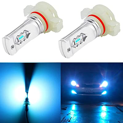 Alla Lighting 3600lm Xtreme Super Bright 5201 5202 LED Ice Blue Bulbs Fog Lights ETI 56-SMD PS19W 12085 DRL Replacement of Halogen Bulb: Automotive