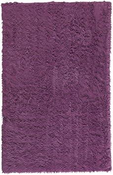 Amazon Com Home Decorators Collection Faux Sheepskin Area Rug 5 X8 Purple Furniture Decor