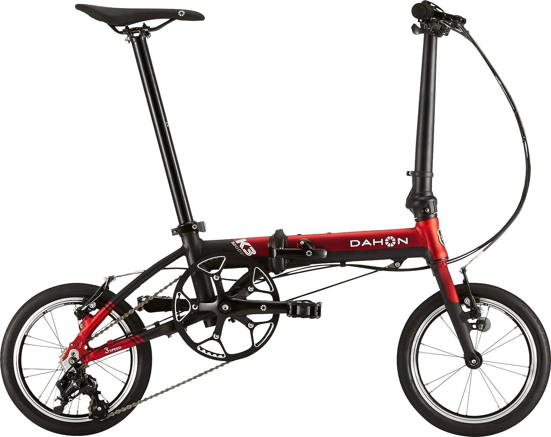 DAHON ダホン K3 折りたたみ自転車 軽量 14インチ ミニベロ B07DLPLVWP  レッド/マットブラック