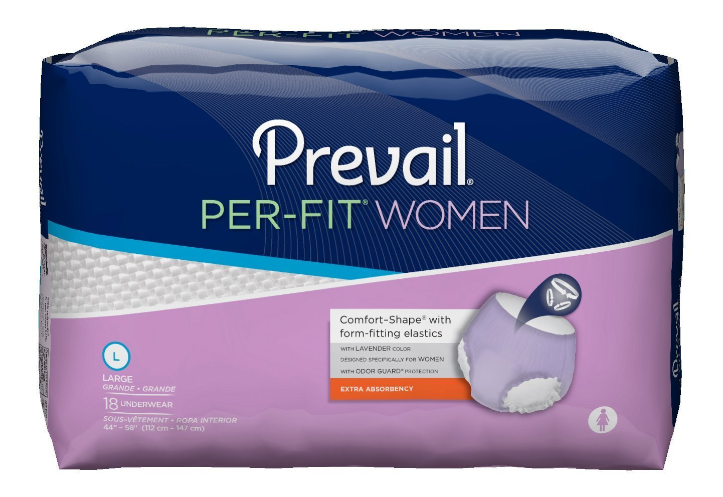 Amazon.com: Absorbent Underwear Prevail Pull On Large Disposable Moderate Absorbency: Health & Personal Care