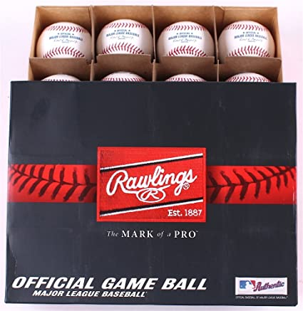 839e28f0db1 Official Major League Leather Game Baseballs from Rawlings - (One Dozen)