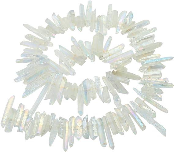Wholesale Full Strand of Aura Titanium Beads-Red/&Orange Crystal-Gradient Color Quartz for Jewelry Making-Titanium Beads-Titanium Quartz