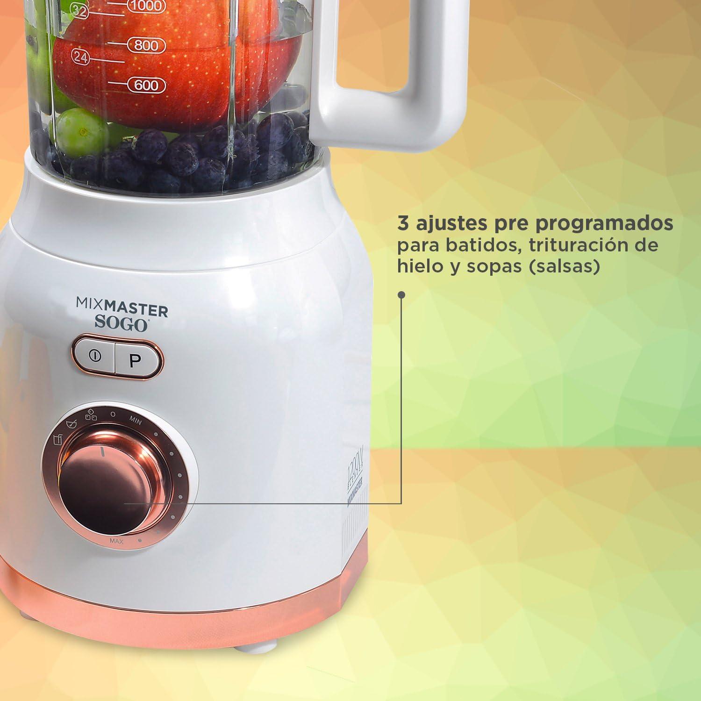 Sogo MixMaster. Batidora Licuadora Americana de Vaso de 1200W con ...