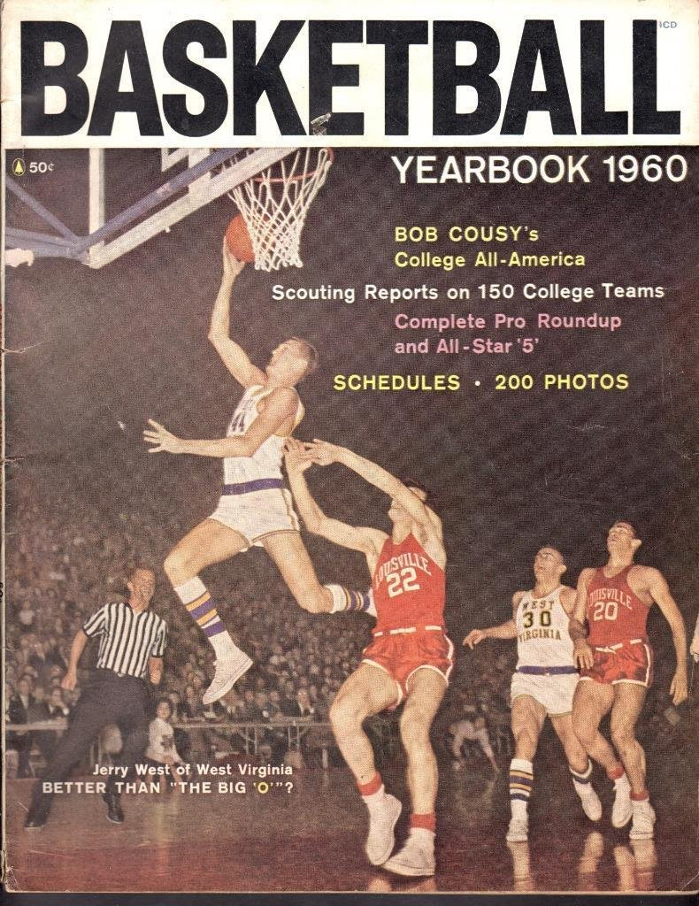 18fb1f8cf4c JERRY WEST WEST VIRGINIA MOUNTAINEERS COVER 1960 BASKETBALL YEARBOOK  MAGAZINE at Amazon s Sports Collectibles Store