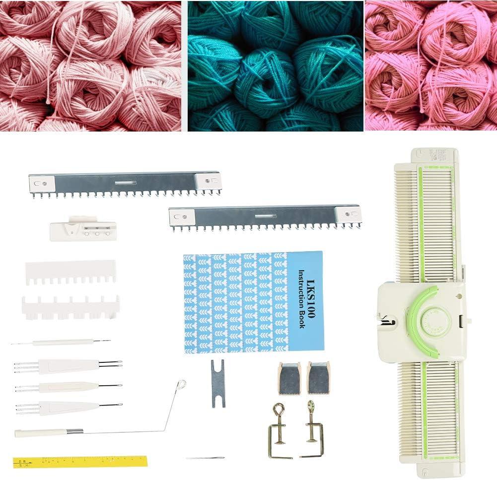 Machine /à Tricoter 3,9 Points Machine /à Tricoter Haute efficacit/é M/étal en Plastique Machine /à Tricoter Outils Accessoires pour Lks100 Rassemblement Anneau Tricot a/érien