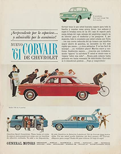 1961 CHEVROLET CORVAIR 700 SEDAN, CLUB CUPE, LAKEWOOD 700 Omnibus de Estacion & OMNIBUS