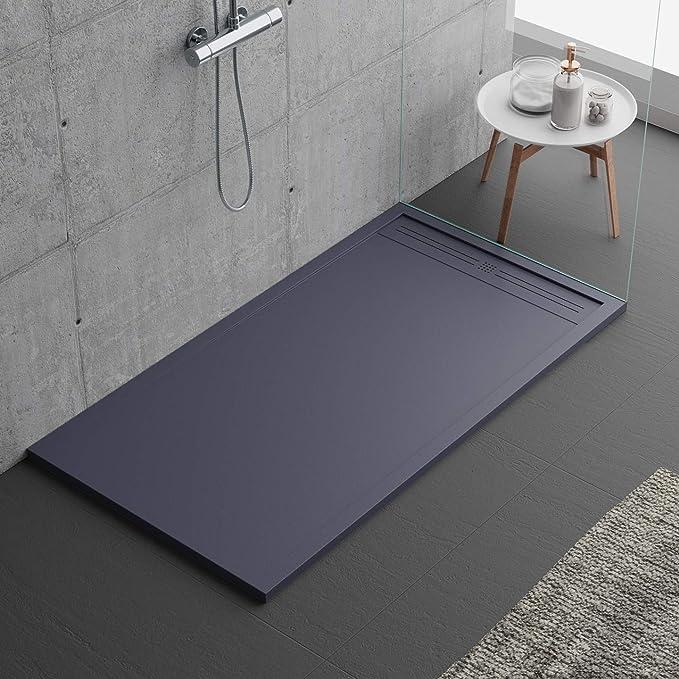 Plato de ducha gris oscuro, diseño moderno, modelo Oviedo, de ...