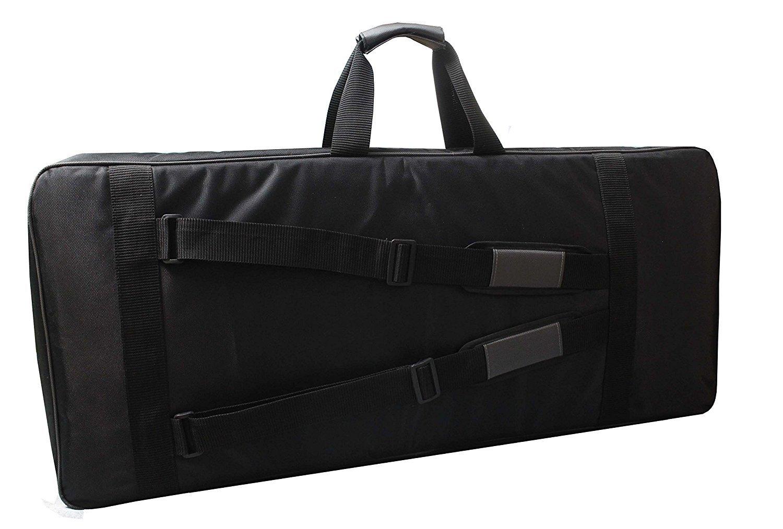 56X18X7 Inches KORG SP-280 88 keys keyboard heavy padded Black bag Case