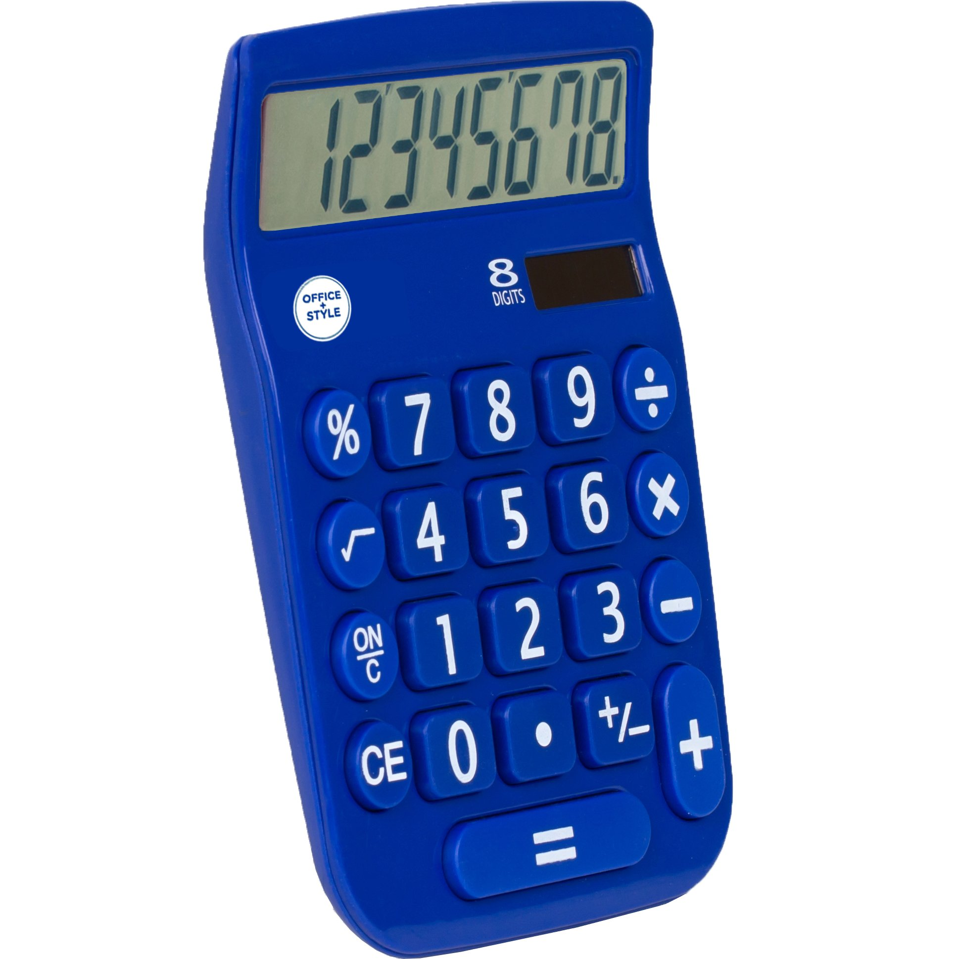 Office + Style 8 Digit Dual Powered Calculator with Large LCD Display, Blue (Pack of 6) by Office Style (Image #3)