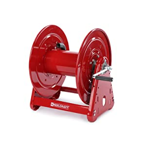 Reelcraft CA33112 L Heavy Duty Hand Crank Hose Reel, 100' Hose Not Included, Red