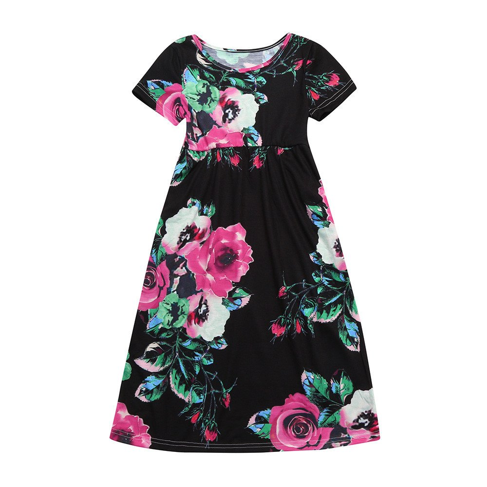 b285dfacb3f Package  1PC Baby Girls Dress-- ♥♥little girls boho summer stripes rainbow  beach sundress toddler girls tunic short sleeve dress summer casual cotton  ...