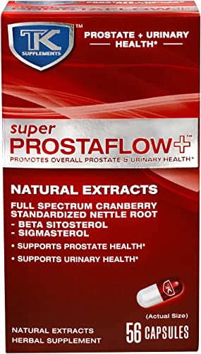 Super Prostaflow - Supports Prostate Health and Urinary Health Herbal Supplement with Natural Extracts Cranberry and Standardized Nettle Root Beta Sitosterol - Helps Reduce Bathroom Trips