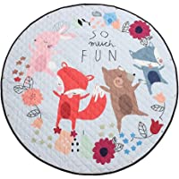 "Baoblaze 150cm / 60"" Cute Carton Play Mat, Kids Baby Toddler Crawling Blanket, Home Floor Rug, Outdoor Picnic Mat - Foldable Soft Machine Wahsable - Fox and Friend, 150cm or 60inch"