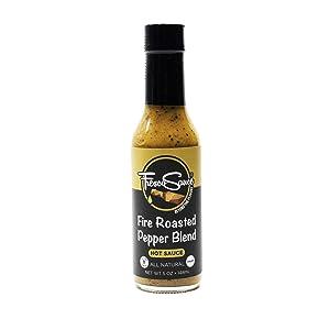 Fresco Sauce - Fire Roasted Pepper Blend Hot Sauce - Jalapeño & Serrano Peppers - Flavorful - All Natural- Vegan - Vinegar Free - Gluten Free - 5 fl oz