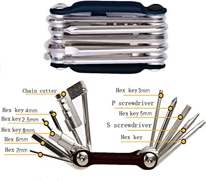 All in One Multi functional 26 Piece Bicycle Maintenance Tool Set with Tool Box for All Bike Types Odoland Professional Bike Repair Tool Kits