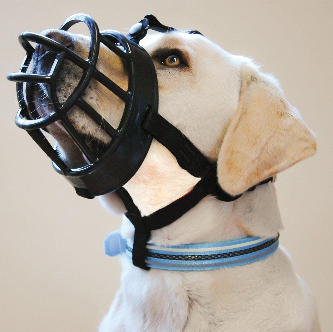 Baskerville Ultra Dog Muzzle Size 6, Black, Muzzle Suitable for Mastiff, German Shepherd....