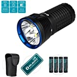 Olight® Max 9000 Lumens X7 Marauder LED Torch Smart Control Portable Flashlight with Bright CREE XHP 70 LED/Variable Output/Side Switch/IPX8 Waterproof(NEW Arrival)