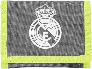 Real Madrid FC Zip Pocket Nylon Wallet Velcro Club Badge Crest Logo Official