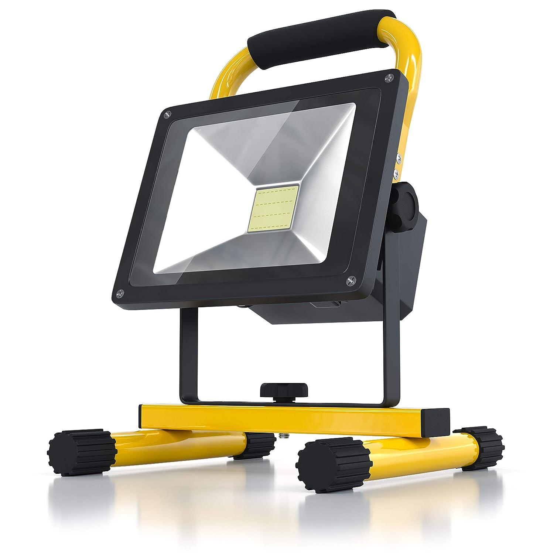 BRANDSON - Faro da cantiere LED a batteria ricaricabile | Faretto da cantiere a Led IP65 |
