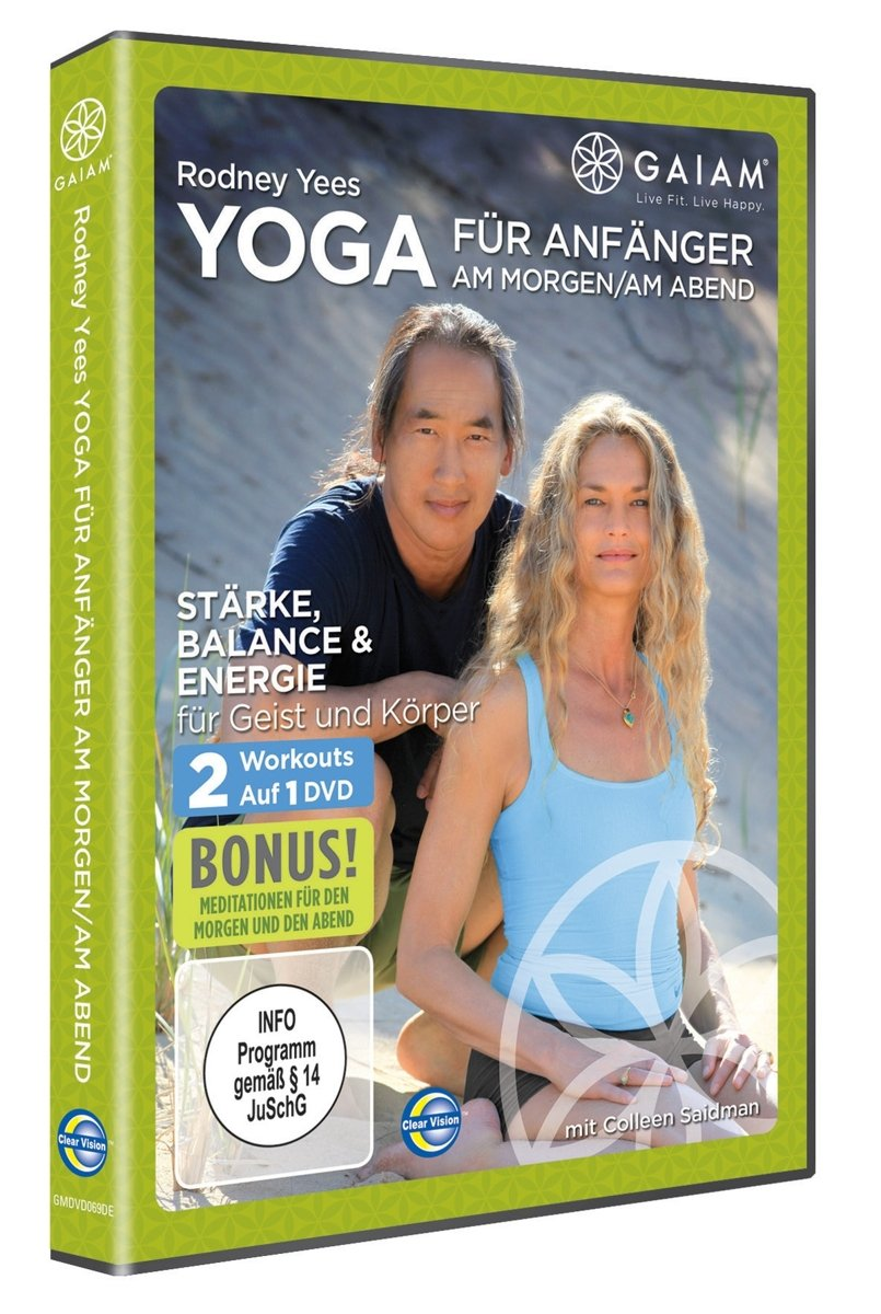 Gaiam Rodney Yees AM/PM Yoga for Beginners DVD
