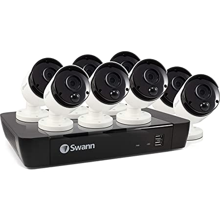 Swann 8 Camera 8 Channel 5MP Super HD NVR Security System 2TB HDD, Heat Motion Sensing Night Vision 2 Way Audio