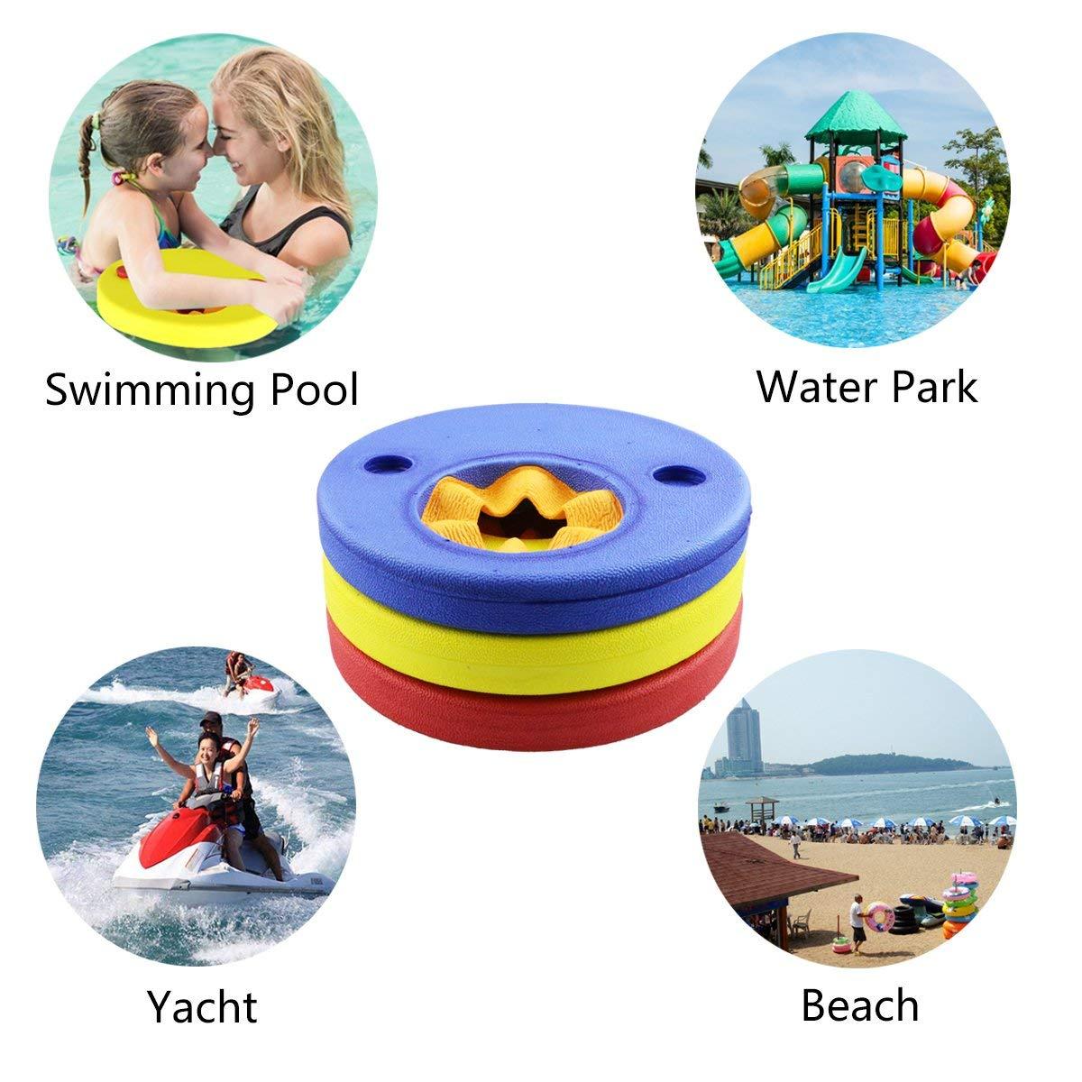 Weeygo Manguitos de Natación, 6 Piezas Discos Flotantes para niños, Flotador Piscina de Brazo de Espuma EVA para Bebé: Amazon.es: Juguetes y juegos