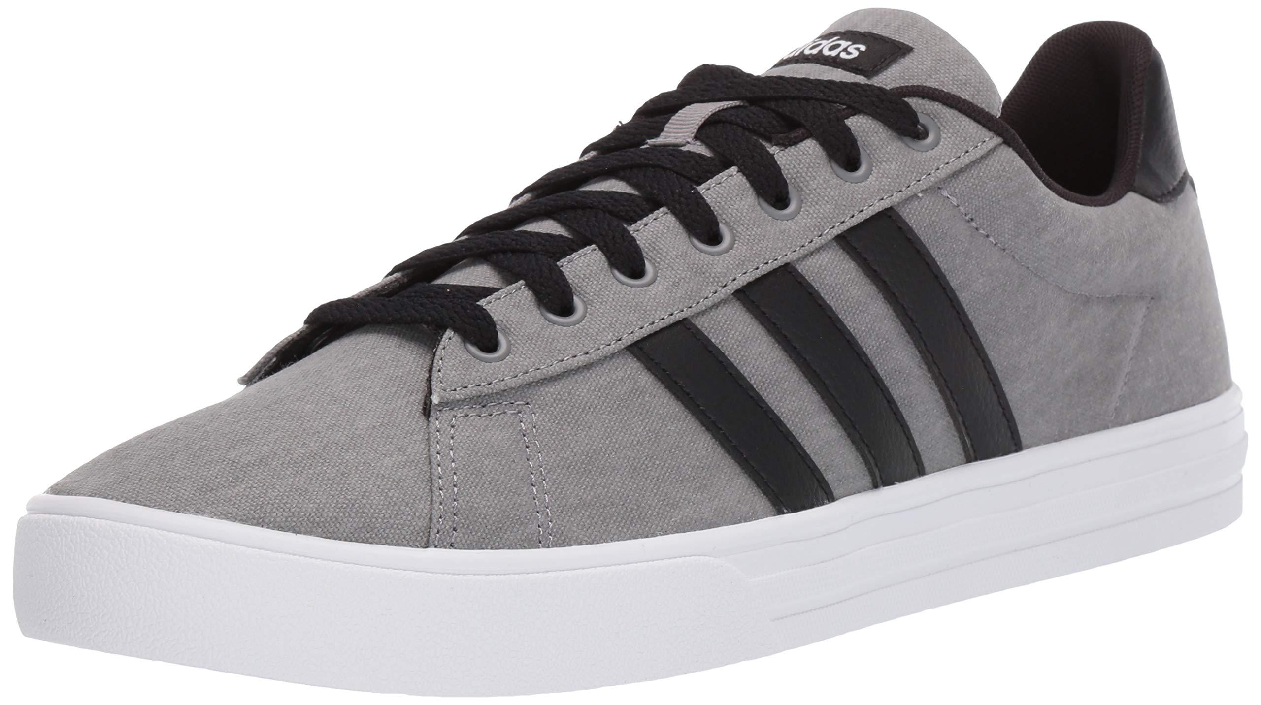 adidas Men's Daily 2.0 Sneaker, Grey/Black/White, 10 M US