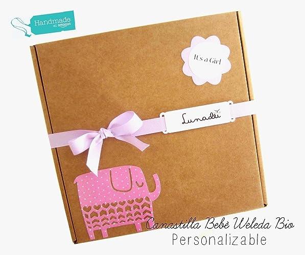 Canastilla WELEDA BIO personalizable | Caja con 2 Cupcakes de calcetines en Algodón de Marca |