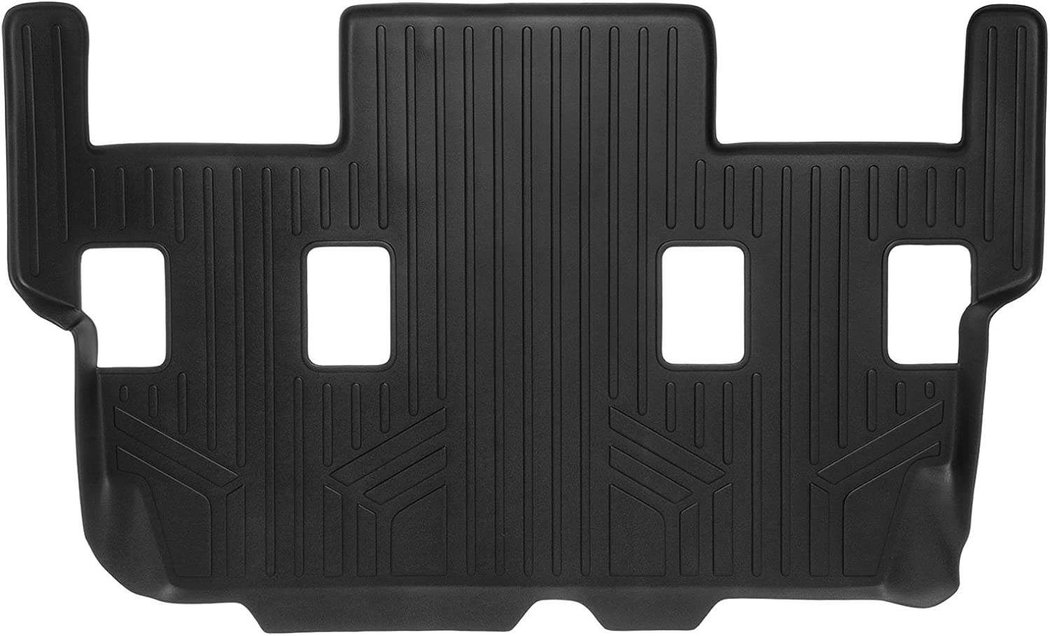 SMARTLINER Floor Mats Cargo Liner Behind 3rd Row Set Black 2011-2017 Expedition EL//Navigator L 2nd Row Bucket Seats Without Console