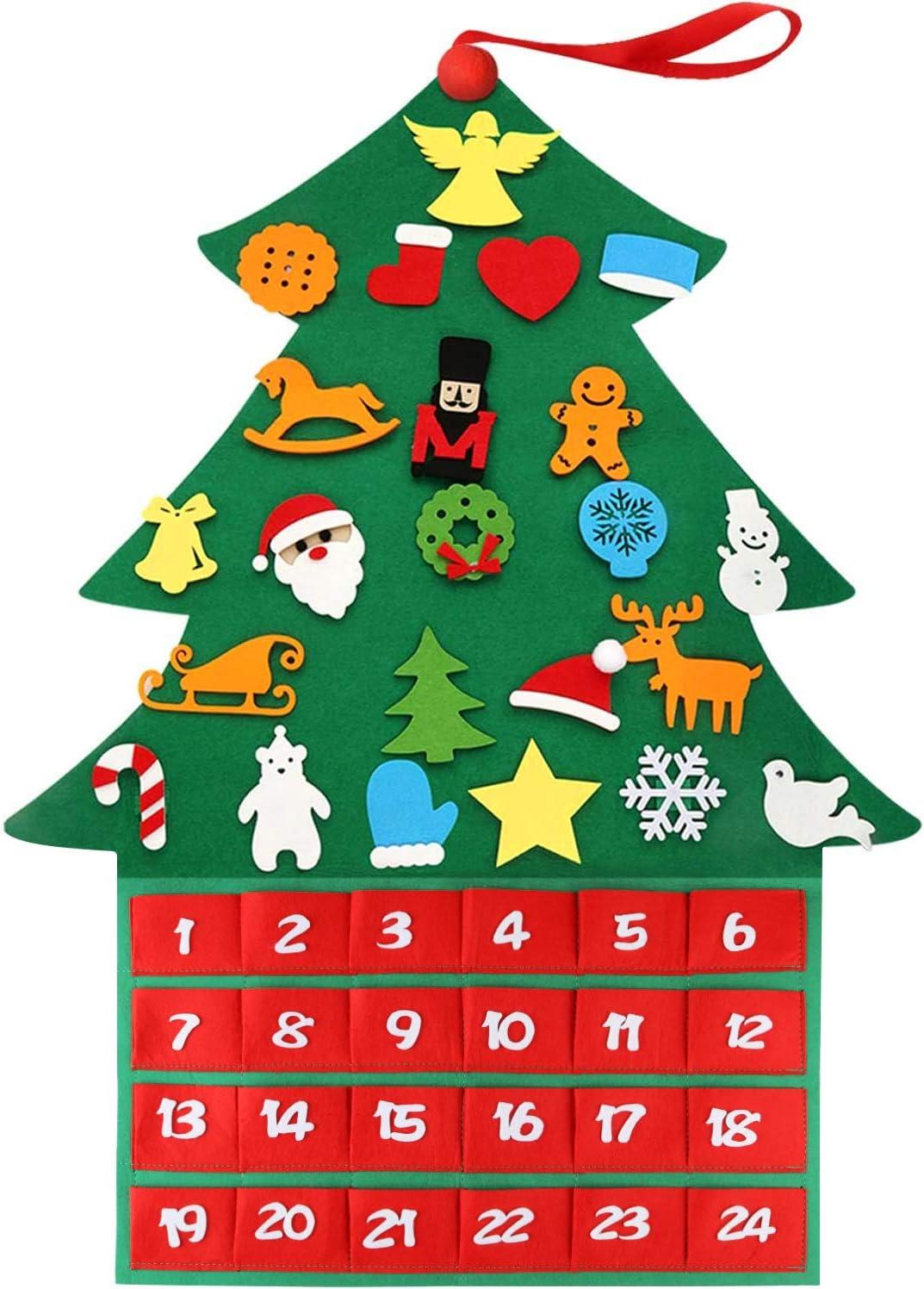 Ornament Set Felt Nativity Handmade Ornanaments Advent Collection Kids Advent Countdown