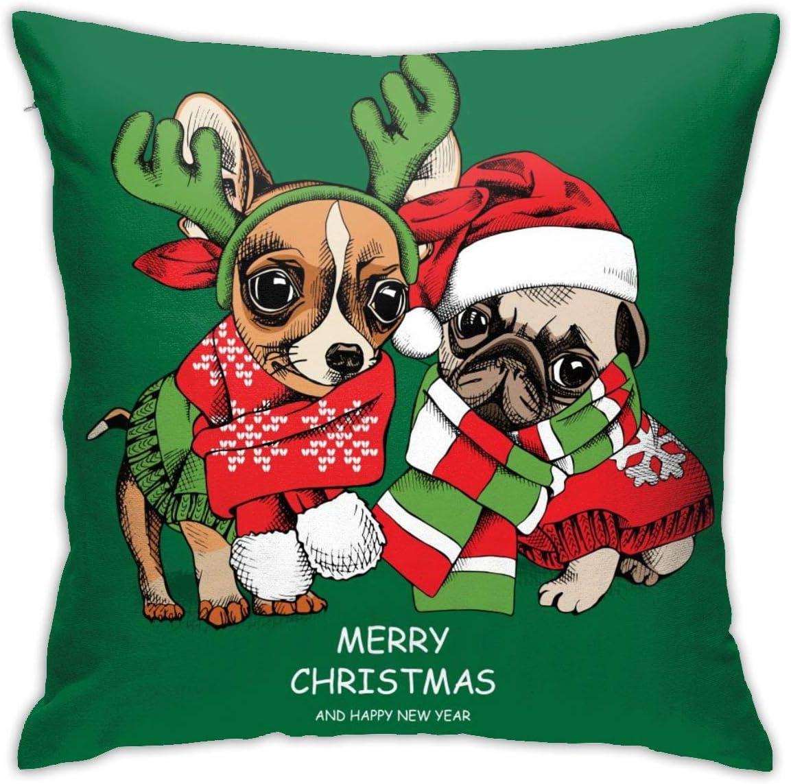 Christmas puppies pillowcase