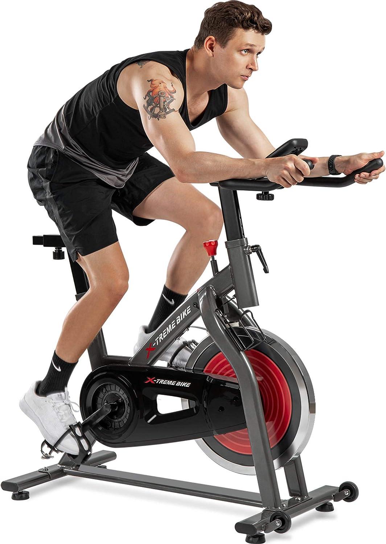 V/élo dappartement avec Computure Traningscomputure et Expanderb?nder Cycling Bike Merax Fitness Bike X-Bike 10 niveaux de r/ésistance magn/étique V/élo de fitness pliable