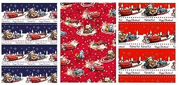 4 Rollen Geschenkpapier Disney Cars