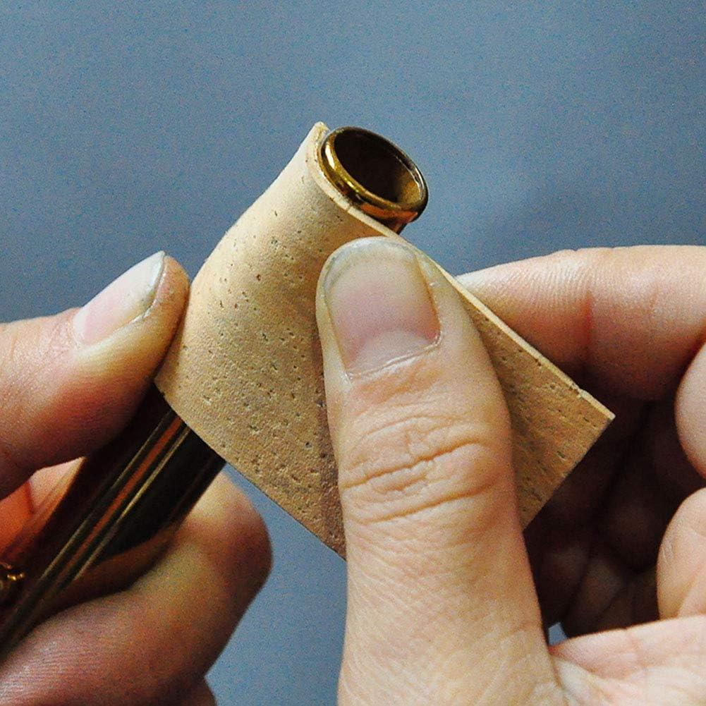 Sughero del manico durevole 10 pezzi foglio di sughero del collo del sax Accessori per la riparazione dei fiati per sassofono contralto//soprano//tenore sughero del collo del sax