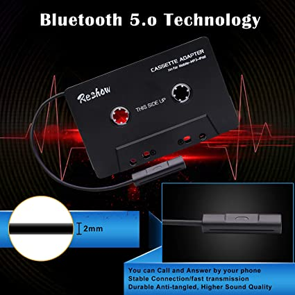 SBC//Stereo Cassetta audio Bluetooth per adattatore Aux Adattatore cassetta smartphone Reshow Convertitore Bluetooth universale Car Tape MP3